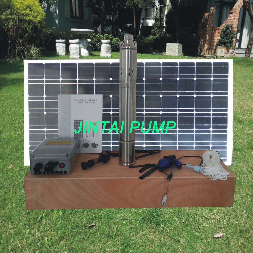 2 anni di garanzia solare da foro pompa, pompa ad acqua solare prezzo, pompa ad acqua di cc per profondo bene, modello JS3-1.8-60