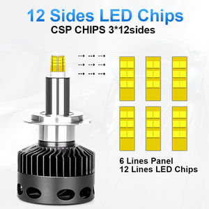 Image 1 - D1S D2S D3S D4S H1 H7 LED H8 H11 HB3 9005 HB4 12 الجانبين 3D Led المصابيح الأمامية عالية الطاقة 30000LM بالقرب البعيدة 360 درجة ديود مصباح تلقائي