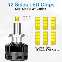 D1S D2S D3S D4S H1 H7 LED H8 H11 HB3 9005 HB4 12sides 3D Led Headlights high power 30000LM Near Far 360 degree diode Auto Lamp