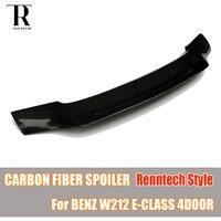 W212 Renntech Stil Carbon Fiber Hinten Heckspoiler für Mercedes Benz W212 E-Klasse E200 E260 E300 E350 Limousine 4 tür 2010-2016