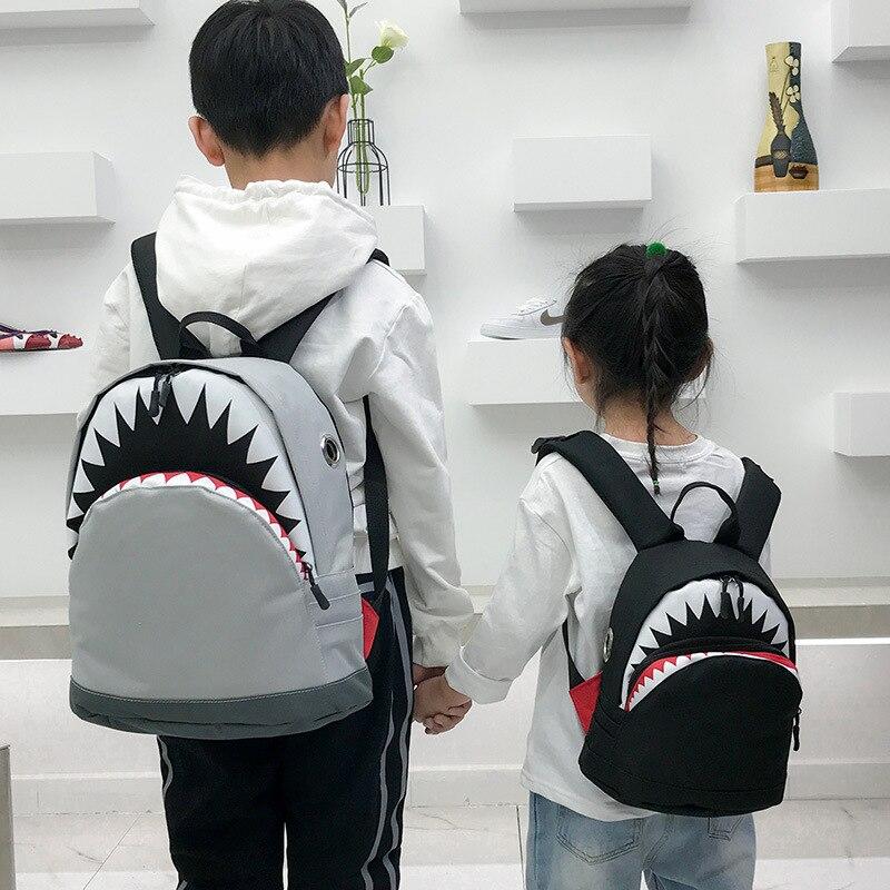 1 10 Yrs Kids Backpack 3D Shark Canvas School Kindergarten Cute Animals Bags  Neoprene Boys Girls Children Backpacks Creativity-in Plush Backpacks from  Toys ...