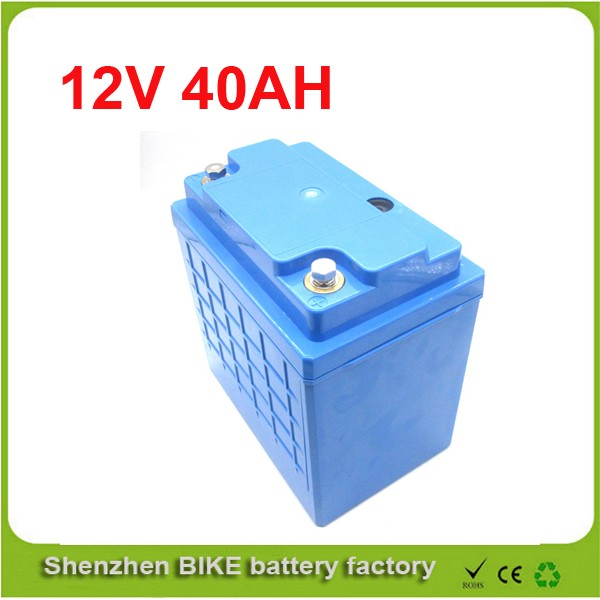 free to ru e bike electric motorcycle deep cycle 12v 40ah lithium lifepo4 battery pack 12v. Black Bedroom Furniture Sets. Home Design Ideas