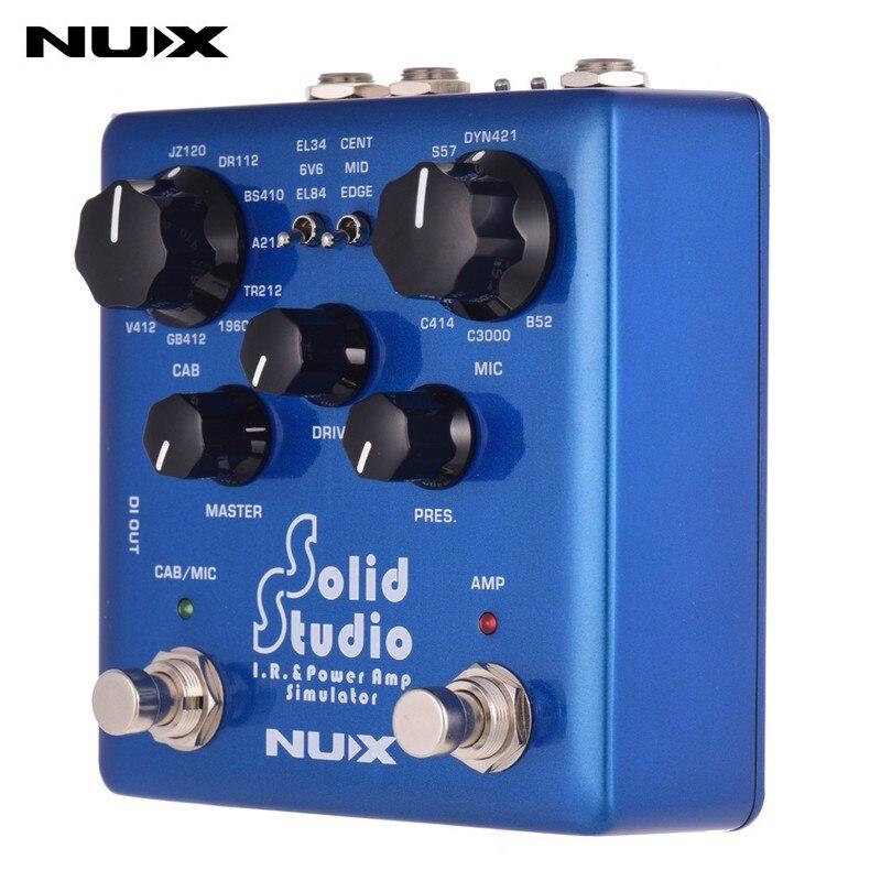 NUX Solid Studio ИК мощность Amp симулятор гитары Multi педаль эффектов двойной ножной переключатель Встроенный 8 кабинет 8 микрофон True Bypass
