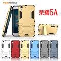 Dupla armadura case para huawei honor 5a 5c difícil pc + tpu à prova de choque 2 em 1 híbrido phone case para huawei honor 5x com suporte cl1224