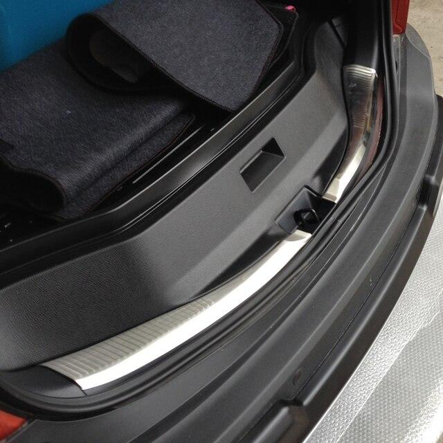 Auto rear bumper protector trim interior for  RAV4 2014 2015,auto chrome accessories