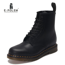 Unisex Genuine Leather Shoes Boots Style Upper Real Leather Ankle Boot Full Grain Cowhide Motorcycle Boots цены онлайн