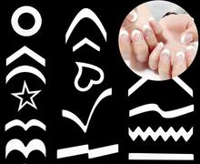 hot sale Tips Guide Nail French stickers cut color nail tool smile stickers V line wavy