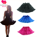 Buenos Ninos 2016 New Arrival Teenager Girls Fluffy Chiffon Pettiskirts Elastic Waist Party Dance Tutu Skirt Free Shipping 8.5