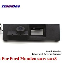 Liandlee Car Reverse Camera For Ford Mondeo 2017 2018 Rear View Backup Parking Camera / Trunk Handle Integrated High Quality new high quality rear view backup camera parking assist camera for toyota 86790 42030 8679042030