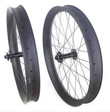 26 + carbone hookless graisse vélo roues largeur 65mm neige carbone roues tubeless livraison gratuite
