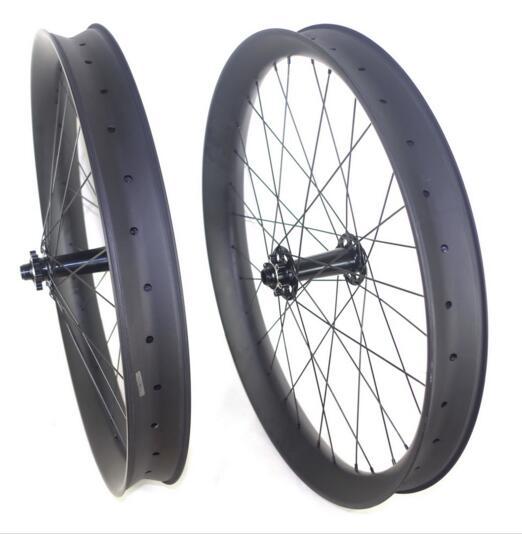 26+ carbon hookless fat bike wheels width 65mm snow carbon wheels tubeless free shipping