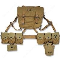 WW2 армии США оборудование M36 поясная сумка аптечка и 0.8L Чайник X Тип Ремни шесть сотовый Чехол