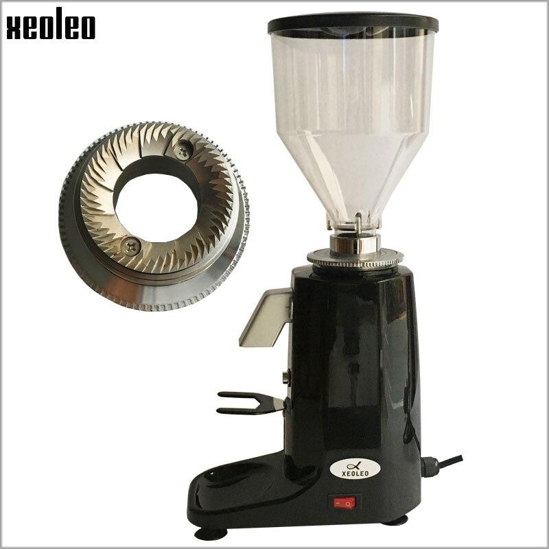 XEOLEO Professionnel moulin à Café En Aluminium Électrique moulin à Café 250 W Lame Café Miller fraiseuse Noir/Rouge/Argent
