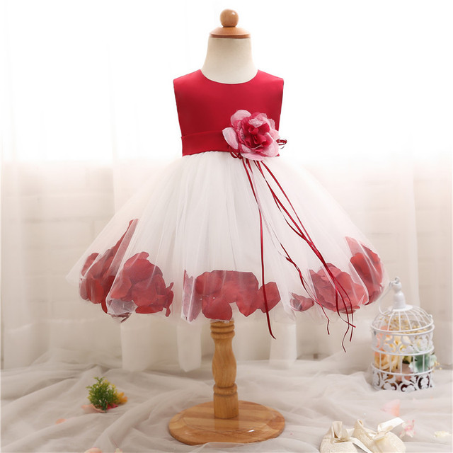 8707909bdb3 Fairy Flower Girl Dress For Wedding Party Kids Dresses For Girls Toddler  Baby 1st 2nd Birthday Outfit Tutu Girl Baptism Clothes
