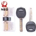 NED Cutaway Dentro Vista Da Prática Cadeado Habilidade Treinamento Escolha Transparente Vista Cadeado Para Chaveiro Com Chaves Inteligentes