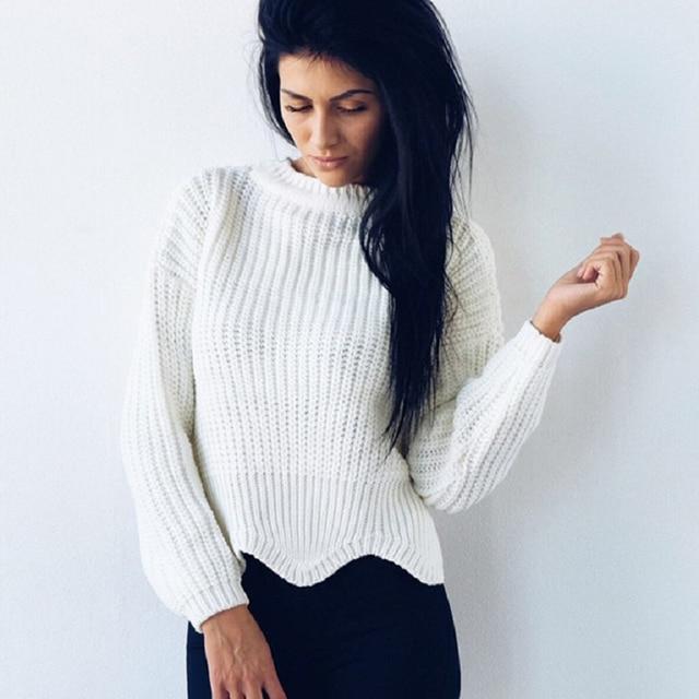 2017 Mujeres de la Navidad patrón Ondulado tejer suéter gris de las ...