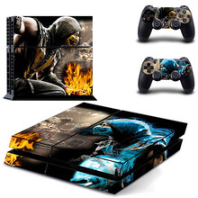 Game Mortal Kombat PS4 Skin Sticker Decal Vinyl for Sony Playstation 4 Console and 2 Controllers PS4 Skin Sticker цена