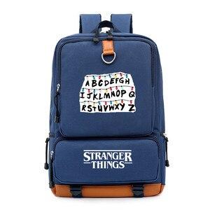 Image 5 - ストレンジャーものアルファベットriverdale少年少女の子供スクールバッグ女性bagpackティーンエイジャーランドセルキャンバス男性学生のバックパック