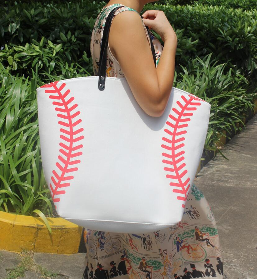 Responsible 2pcs New Yellow Softball White Baseball Jewelry Packaging Blanks Kids Cotton Canvas Sports Bags Baseball Softball Tote Bag Bringing More Convenience To The People In Their Daily Life