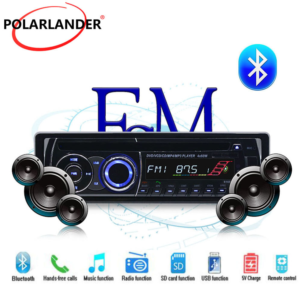 BT Bluetooth Car Radio Stereo 1 DIN Removable panel Audio Music CD DVD MP3 player FM AUX IN USB SD card With Remote Control цена