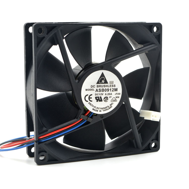 Delta Electronics ASB0912M -F00 Server Square Fan DC 12V 0.20A 90x90x25mm 3-wire