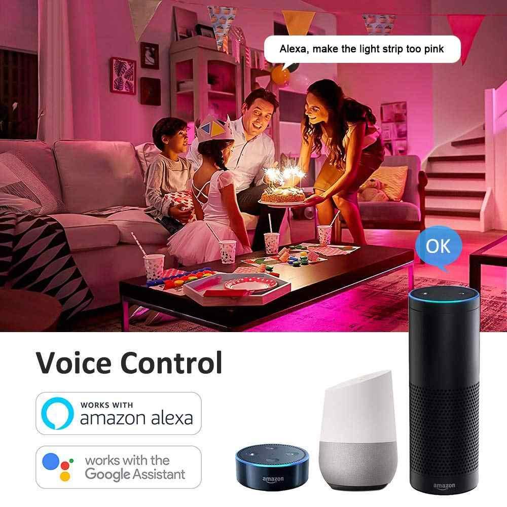 WiFi taśma oświetleniowa RGB pilot zdalnego Syc Alexa Google domu inteligentny telefon 5050 5m 10m 24V RGB LED elastyczne paski światła zasilacz