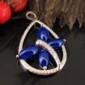 Lapis Lazuli Dragonfly Pendant Silver Plating Thickness Of Water