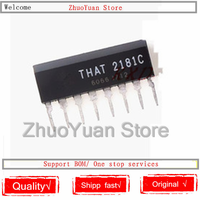 1PCS/lot New Original THAT2181C THAT2181 THAT2181LC 2181 THAT 2181C SIP8 Pin8 IC Chip