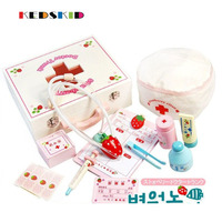 Strawberry Wooden Medicine Cabinet Toys Children Simulation Doctors Toys Pretend Play Educational Toys Gift