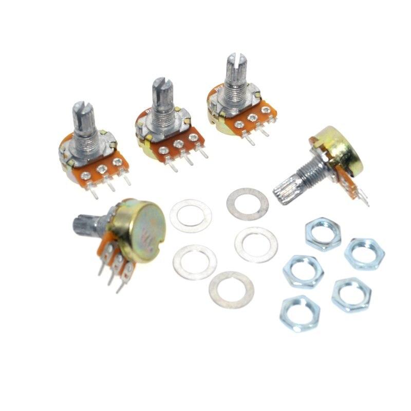 50Pcs B5K 5K Ohm Linear Taper MINI Potentiometer Pot 15mm 3Pin