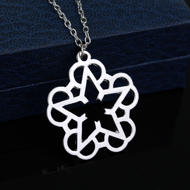HANCHANG Jewelry Rock Band Black Veil Brides Music BVB Logo Pendant Necklace For Women Girl