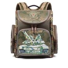 Children School Bags for Boys Racing Cars Military Theme Backpacks EVA Folded Waterproof Orthopedic Backpack Grade