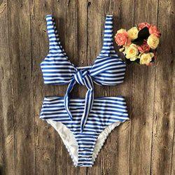 Średniej zwężone Bikini Push Up Bikini zestaw z paskiem stroje kąpielowe kobiety Sexy strój kąpielowy kobiet druku Buquini Plus rozmiar SwimmingSuit AA328 2