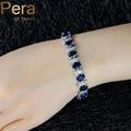 2017 Europeu de Design Natural Azul Cubic Zircon Pedra de Cristal Branco 925 Jóias De Prata Esterlina Grande Charme Pulseira Para as mulheres B079