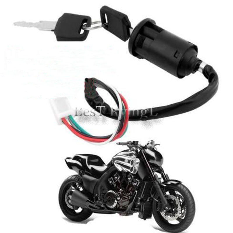 Universal Motorcycle Motorbike Ignition Switch Key With Wire For Honda/for Yamaha For Suzuki Scooter ATV Moto Accessories