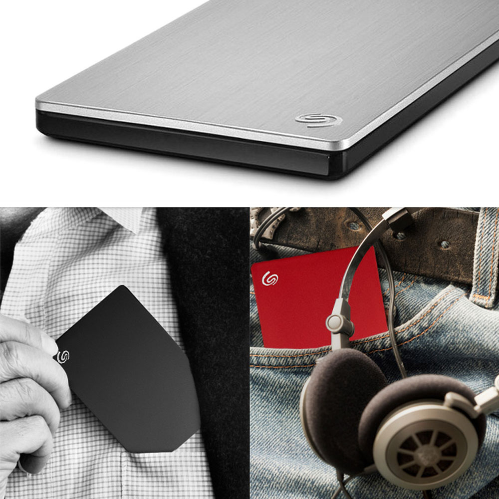 Seagate 1tb 2tb 4tb Hdd External Hard Drive Disk Backup Plus Slim Silver Usb 30 25 Portable For Desktop Laptop In Drives From