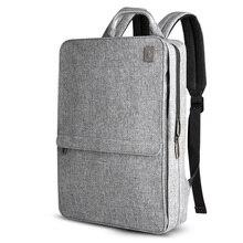 Schlank Laptop Rucksack Frauen/Männer 14 zoll Büro Arbeit Student Rucksack Business Tasche Unisex Schule Tasche Ultraleicht Dünne Zurück pack