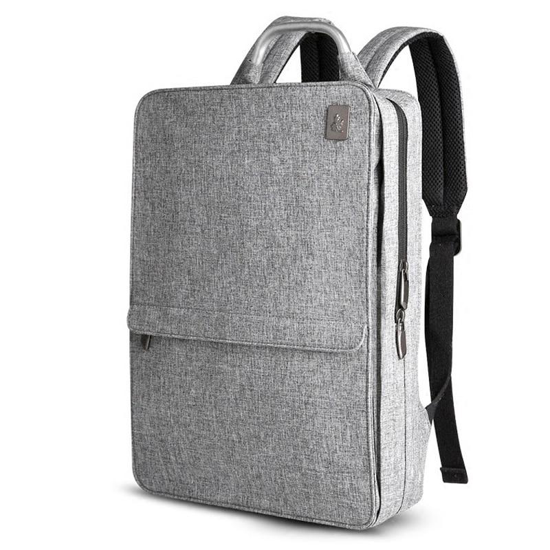 Slim Laptop Backpack Women/Men 14 inch Office Work Student Backpack Business Bag Unisex School Bag Ultralight Thin Back Pack-in Backpacks from Luggage & Bags