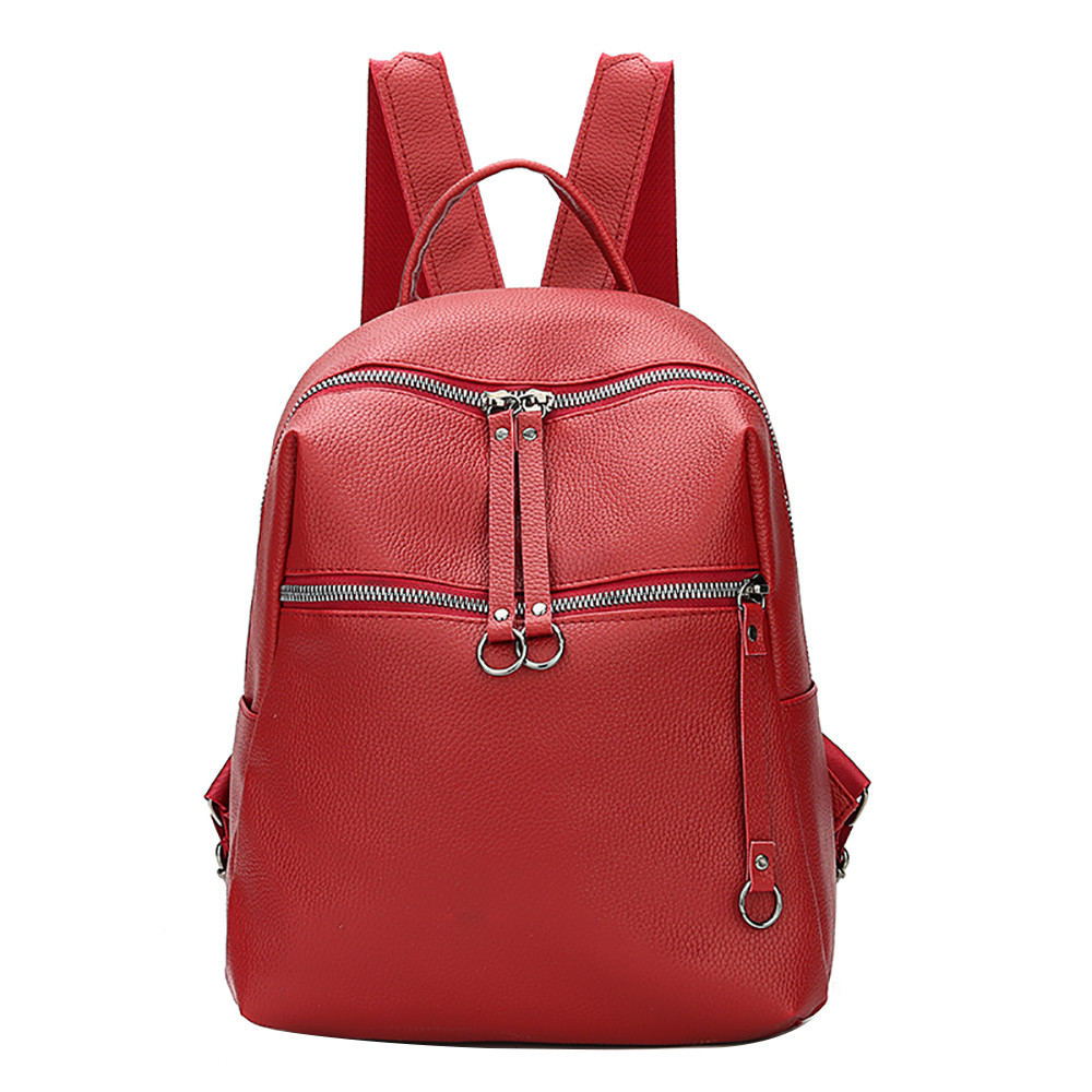 Sleeper #401 2018 NEW Women Backpack Tide Bag Wild Soft Leather Student  Bag Simple Mochila Backpack Pure Color Free Shipping