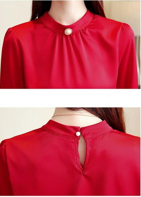 blusas mujer de moda 2018 long sleeve women shirts womens tops and blouses chiffon blouse shirt feminina plus size tops 1418 45 4