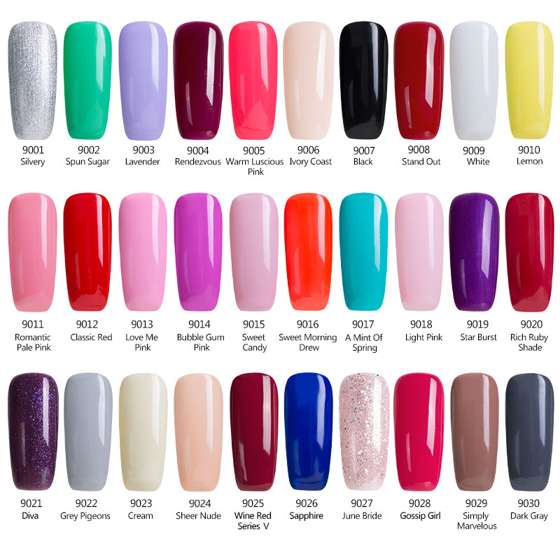 Aliexpress Y Mix 1pcs Colorful Lucky Color Nail Gel Series Glitter 2017 Hot New Polish Need Primer Base Top Coat Uv From