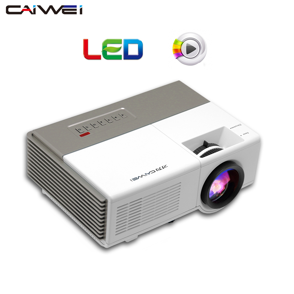 CAIWEI Mini Projector Digital TV HDMI USB Home Theater LED Projector home theater for Movie games