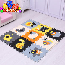 mei qi cool 9pcs/set baby play EVA foam puzzle mat /Cartoon EVA foam pad / Interlocking Mats for kids playmat(China)