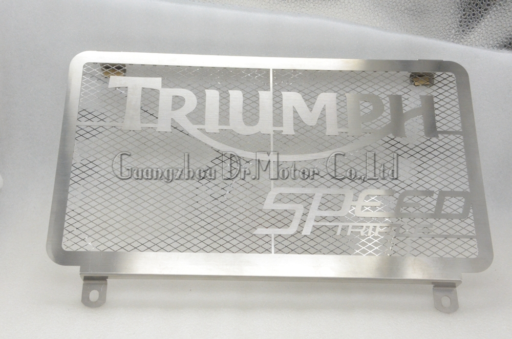 ФОТО Motorcycle Radiator Grille Guard Cover Protector  Accessories For  Triumph Speed Triple 1050 2005-2010 2009 2008 2007