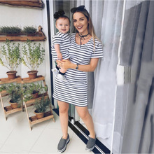 family clothing christmas clothes mom and baby look girls girl t-Shirts fashion mother & daughter 2019 new