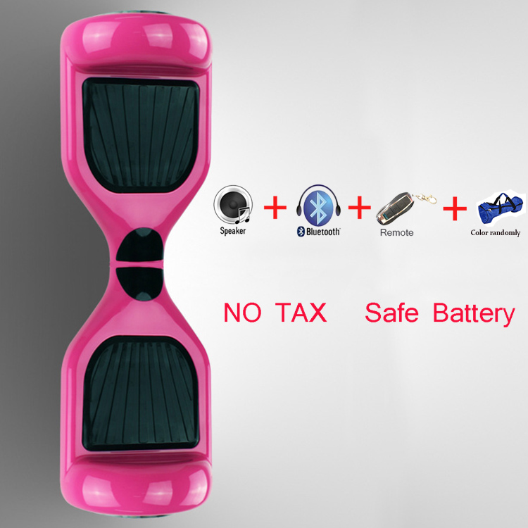 NO TAX pink color motorized stand up segboard giroskuter drift smart balancing Hoverboard with bluetooth music speaker