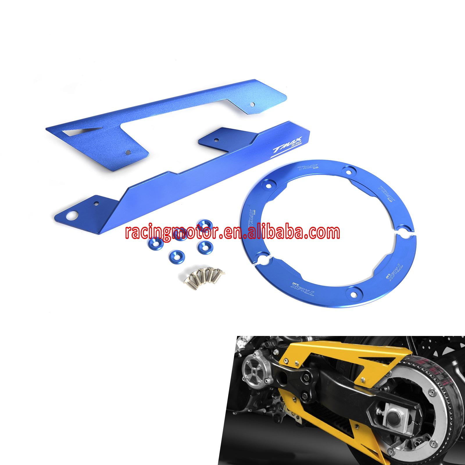 ФОТО Chain Protector & Guard Transmission Belt Pulley Cover For YAMAHA TMAX530  2012 2013 2014 2015
