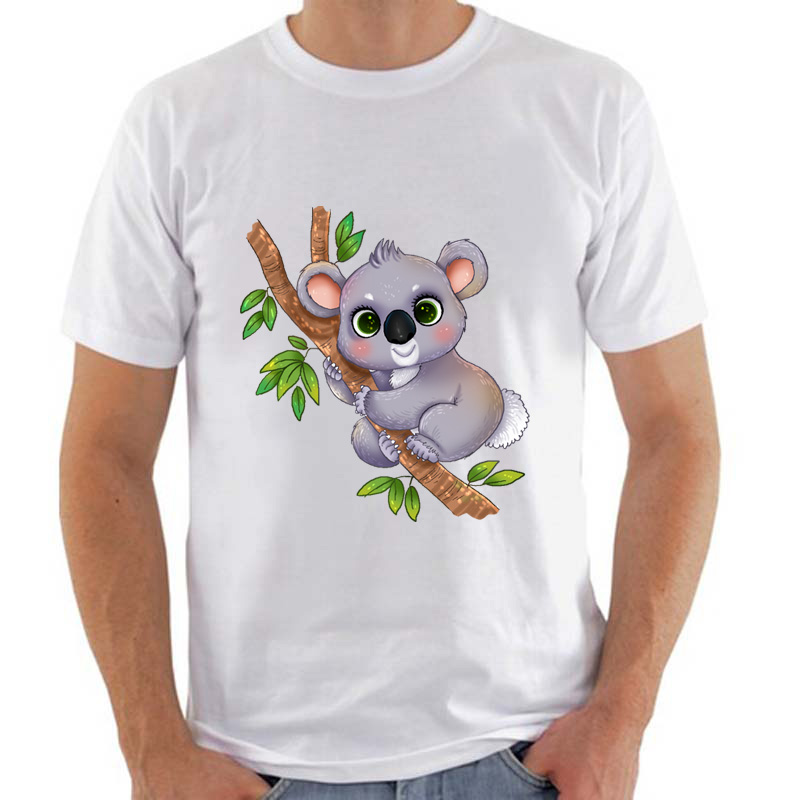 High Quality Kawaii Cute Koala Print T shirt Casual tshirt ...
