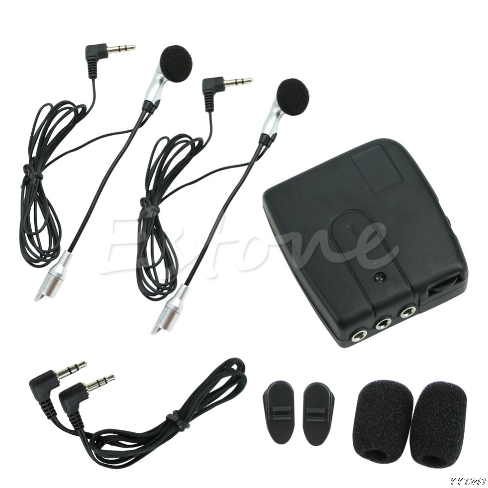 QILEJVS Motorbike Motorcycle Helmet 2-way Intercom Headset Communication System- G6KC title=