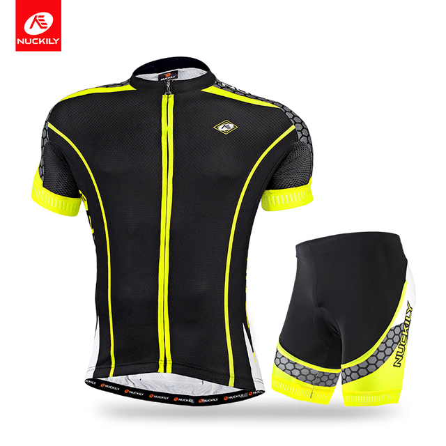 NUCKILY Man Summer Cycling Jersey And Spandex Shorts Suit Coolmax Fabric Bike  Apparel MA011MB011 7e7160e4e